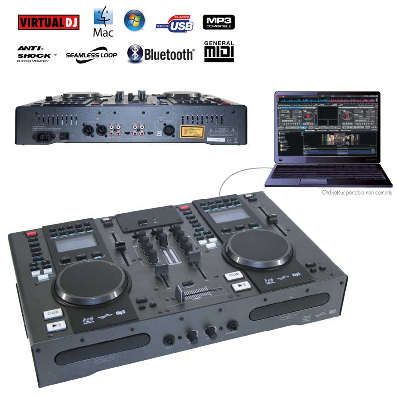 STATION DJ CD/MP3/USB/MIDI/BLUETOOTH