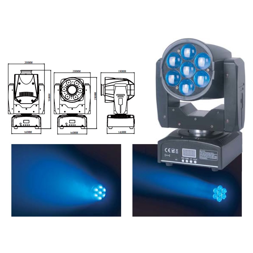 LYRE LED ZOOM 7X15W